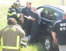 Driver Passes Out, Car Crashes in Ditch in Avon