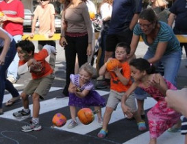 Look out Below! Fruits Have Need for Speed at Autumnfest Pumpkin Race