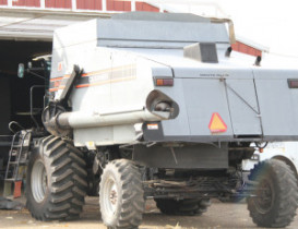 Woman Escapes Serious Injury After Combine Collision