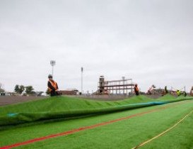 SUNY Geneseo Stadium Rolls Out New Home Turf