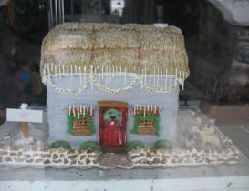 Gingerbread Houses Brighten Windows, Hospitals in Dansville