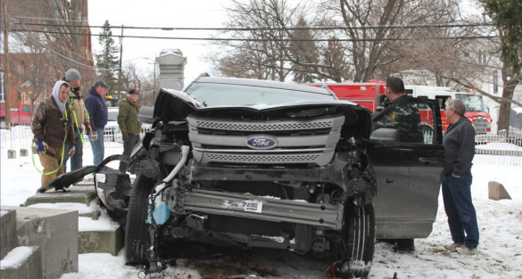 Life-Threatening Injury Sustained in Cemetery Crash