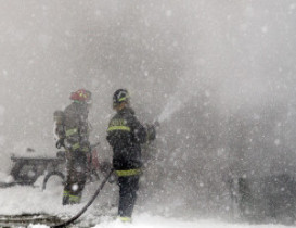 Fire and Ice Destroy Home, Animals Injured