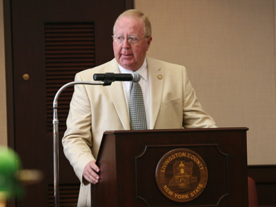 Sheriff York addresses the Board of Supervisors earlier this year. (Photo/ Josh Williams)