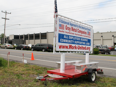 Local 46 Sheet Metal Workers International supporting workers at Gray Metal