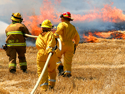 Wheat fire in Wheatland, damages Krenzer farm