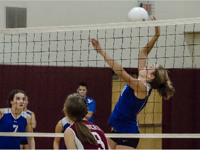 VOLLEYBALL: Blue Devils Pull Ahead From Raiders