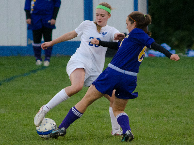 GIRLS SOCCER: Blue Devils defeat Pavilion's tough defense