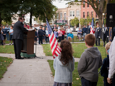 St. Agnes students hold September 11 ceremony