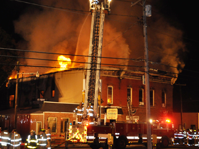 County fire departments respond to devasting Castile fire