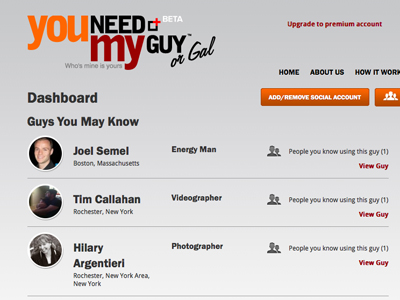 You Need My Guy, a new way of doing business launched