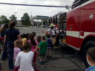 Fire Department educates Local Nursery School about Fire Safety