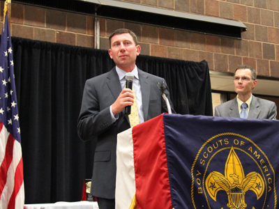Cole recognized by Boyscout Iroquois Trail Council