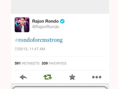 Rajon Rondo shows support for Caledonia community