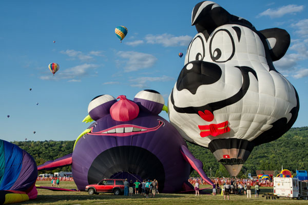 Optimism Defeats Weather at Dansville Festival of Balloons