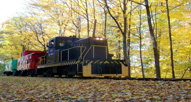 Tracking Fall Foliage by Trolley and Train