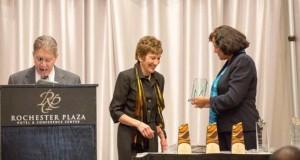 Sherry Walker-Cowart presenting Judge Marianne Furfure with the 2013 Distinguished Jurist Award last year.