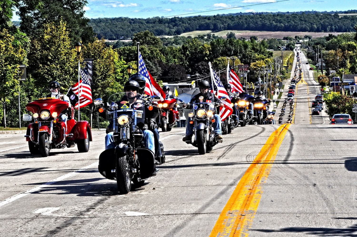 Solemn Tribute by Patriot Guard for Veterans on Final Journey