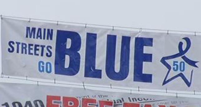 Livingston County Main Streets Go Blue for Colon Cancer March 3