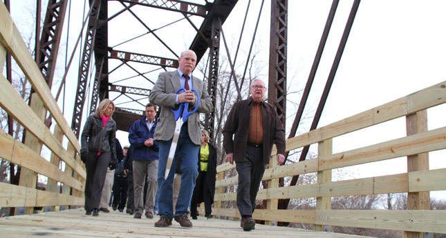 Community Celebrates the Rebirth of the Erie and Attica Trussel Bridge