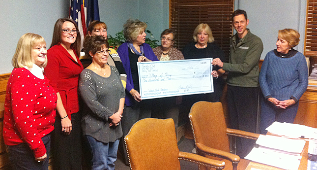 Perry Tuesday Club Raises $1,000 for Village Park
