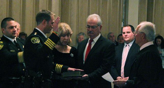 Sheriff Thomas Dougherty during the swearing in ceremony. (Photo/ Josh Williams)
