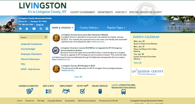Livingston County Releases New Website