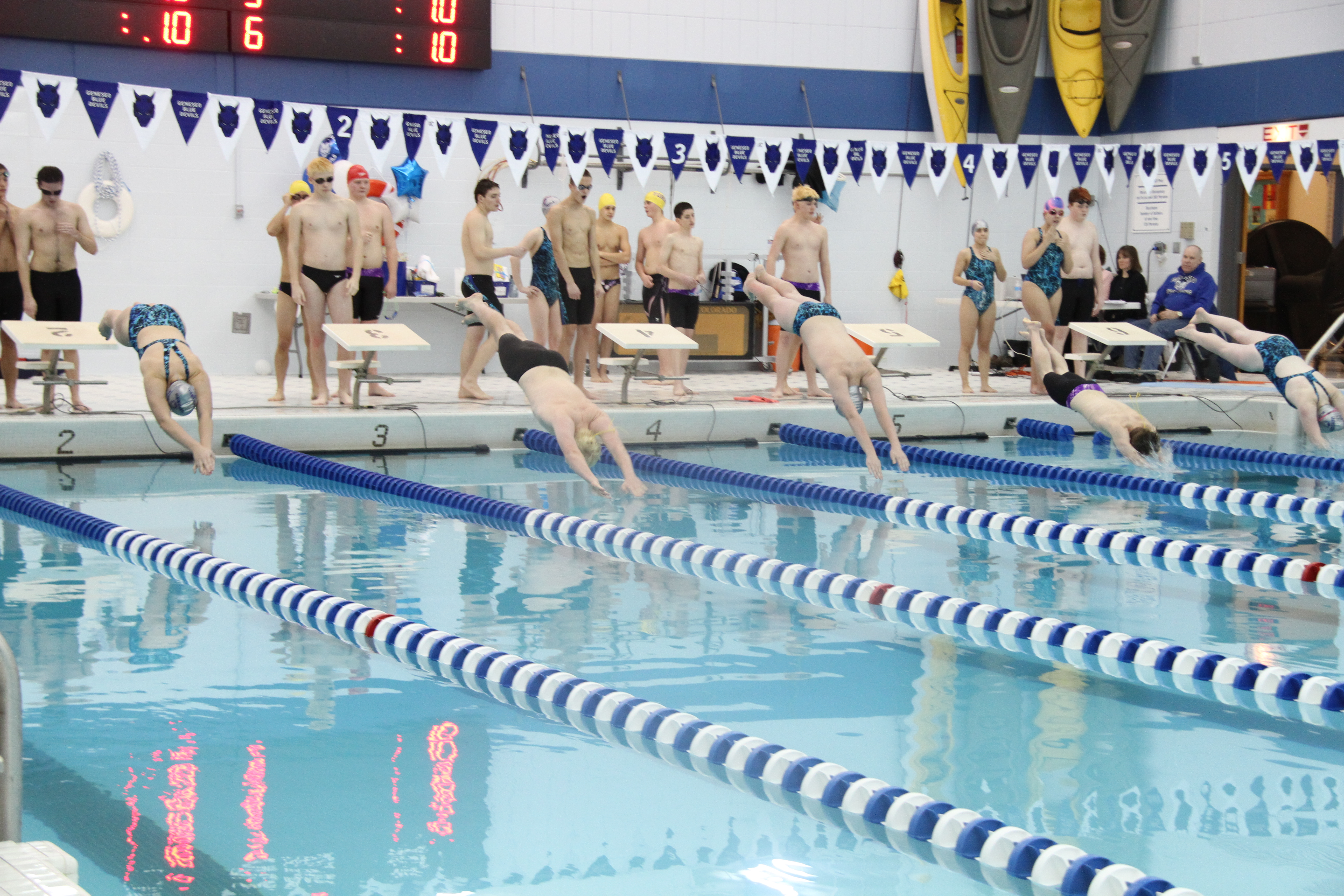 Geneseo Outswims Wayland Cohocton 85-71
