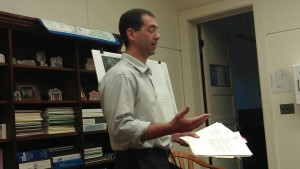 Bill Davis of the MRB group presenting plans for Main Street