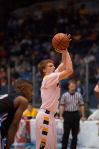 Cory Dillon shoots a free throw (Photo credit: Michael R. Carney)