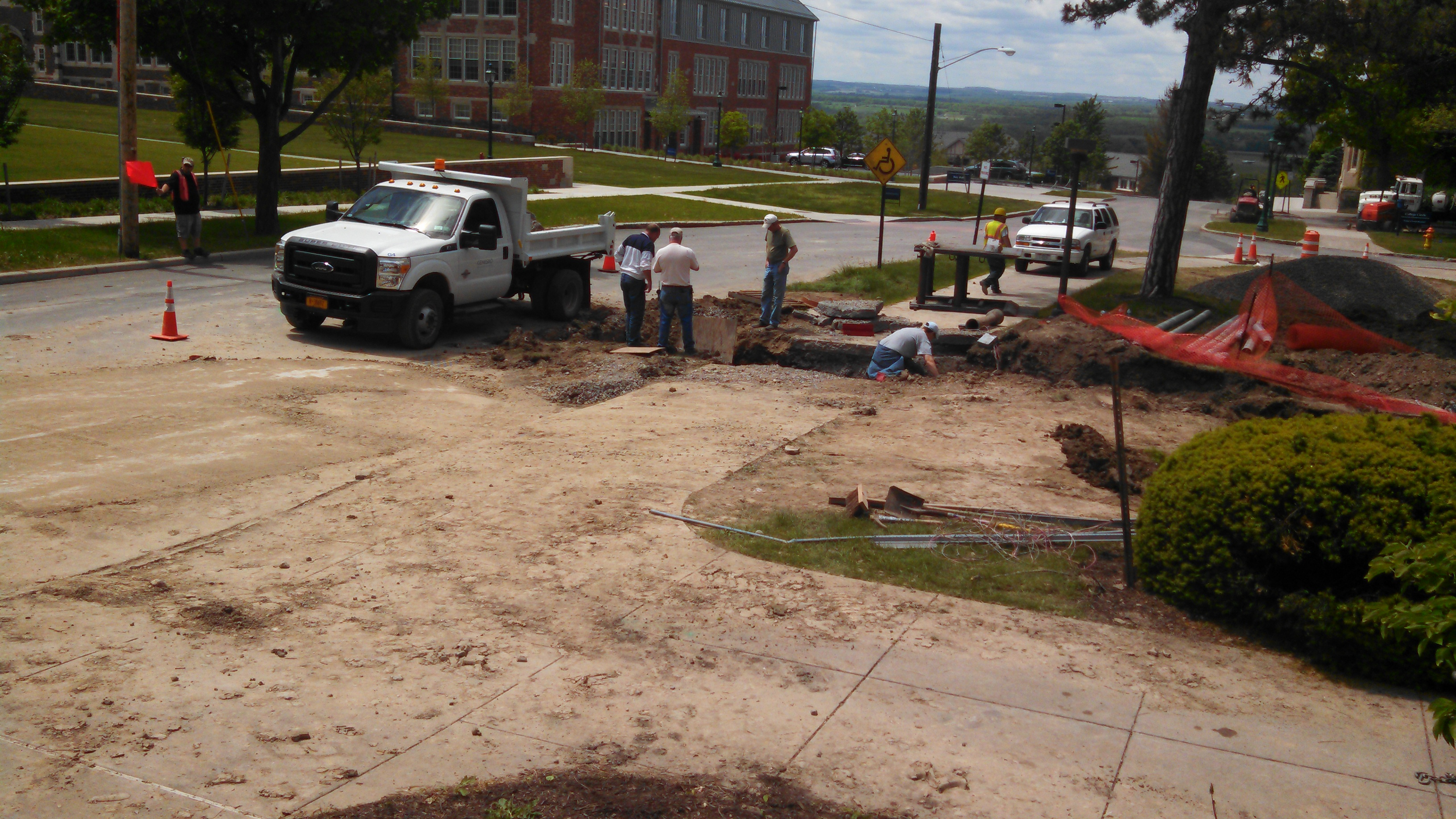 Gas Leak on SUNY Geneseo Campus Quickly Repaired