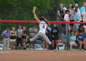 Kelsey McMullen gave up three hits in the shutout win (Photo credit: A.J. Devine)