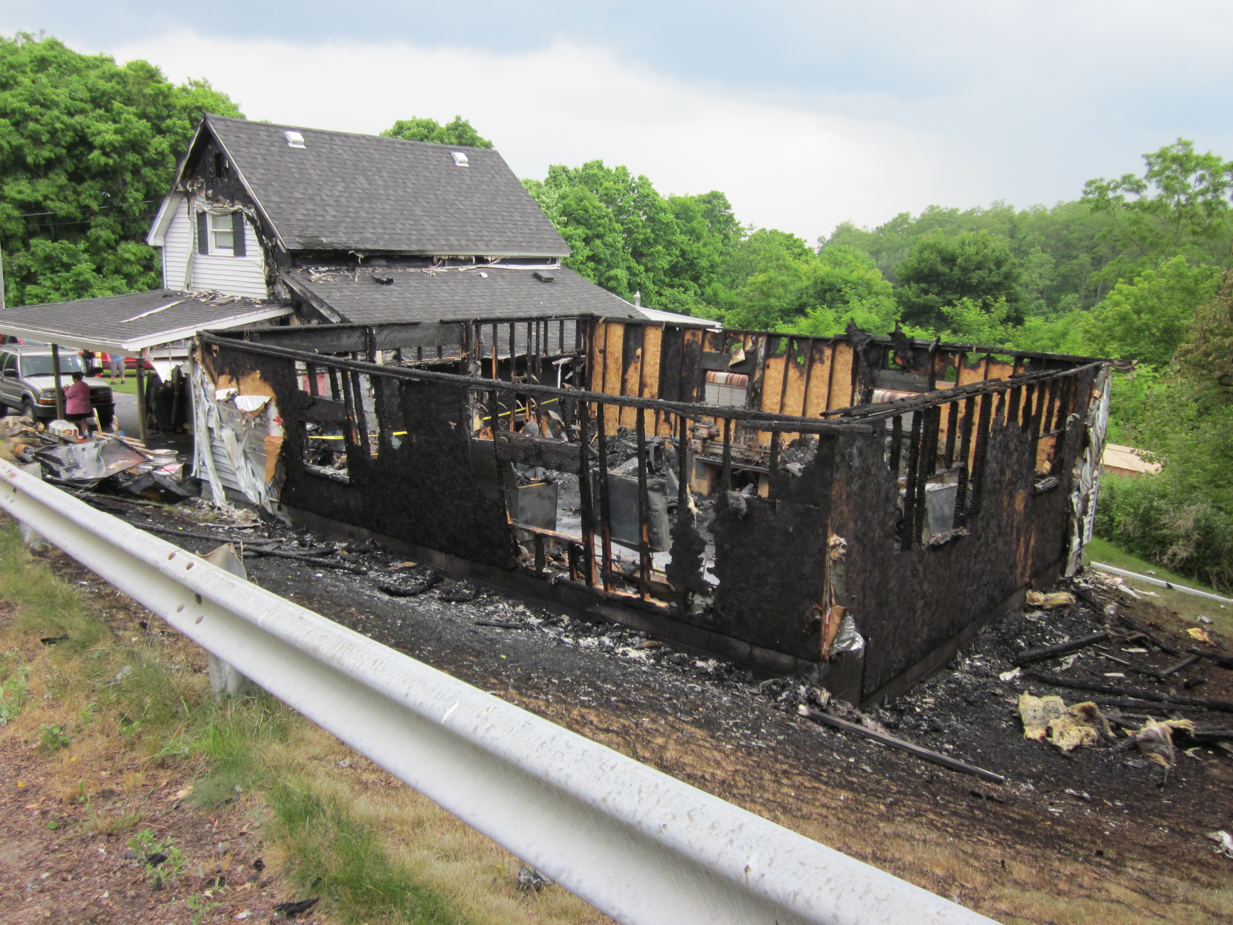 Mt. Morris Home Vandalized and Burned by Arson Suspect