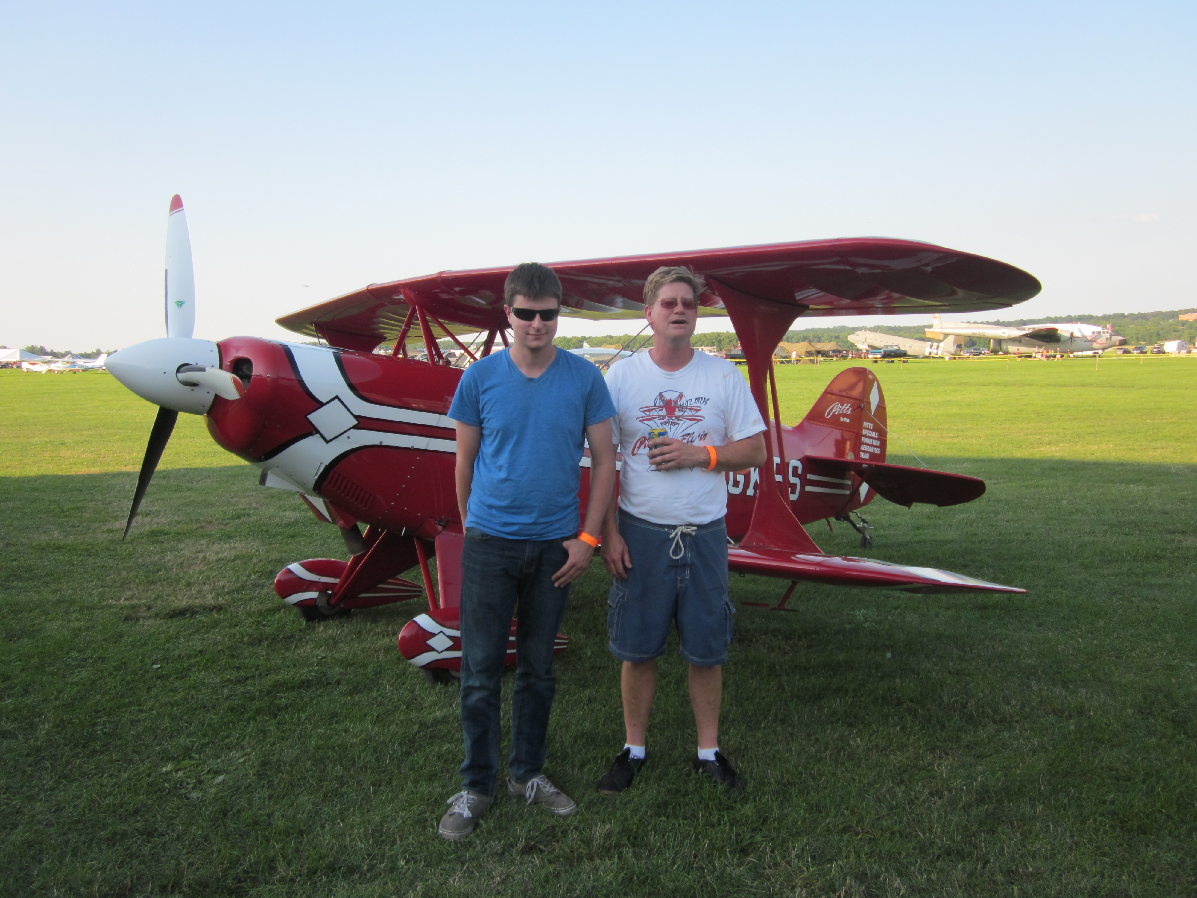 Father and Son Soar over Geneseo Airshow