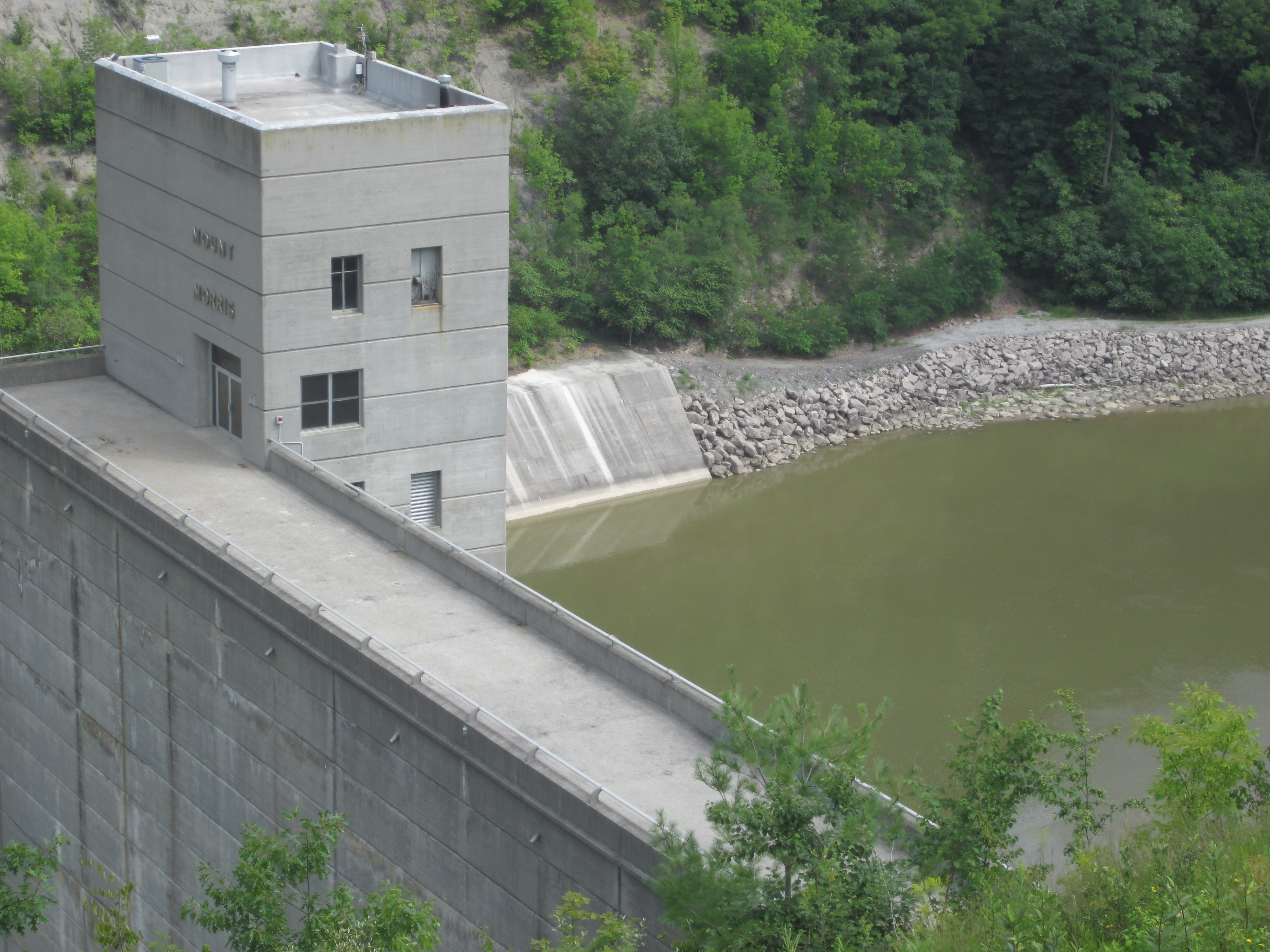 Mount Morris Dam Holding Back Floodwaters