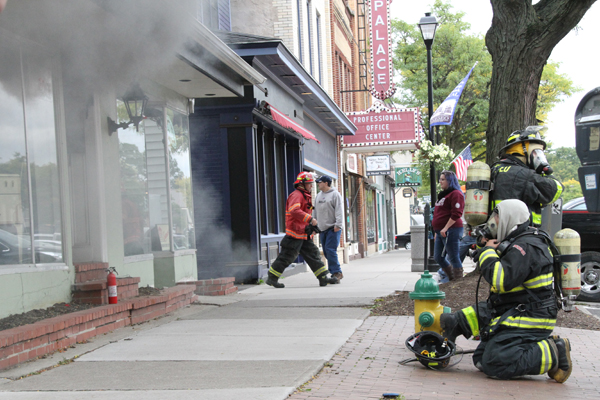 Fire on Main Street in Geneseo Causes Stir, No One Injured