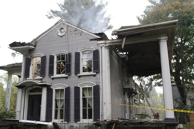 Suspicious Fire Ruins Historic House in Nunda