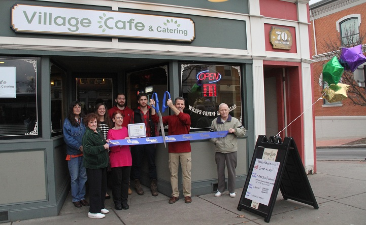 Village Cafe and Catering Open and Busy at Ribbon Cutting