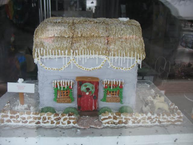 Gingerbread Houses Brighten Windows, Hospitals in Dansville