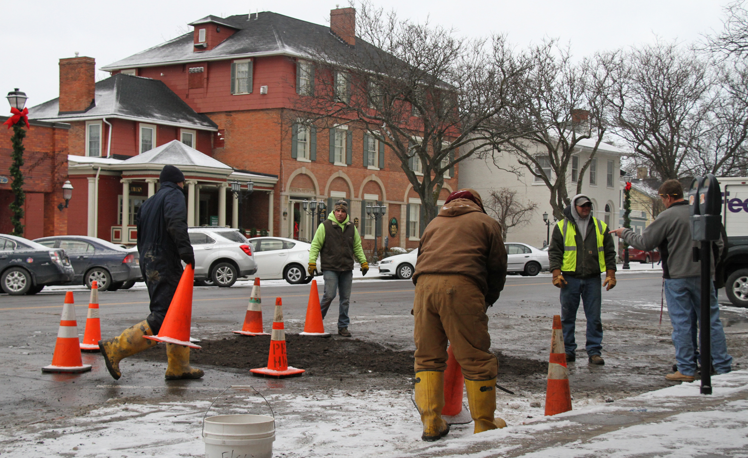 Century-Old Valve Repaired on Main Street, Normal Parking Resumes