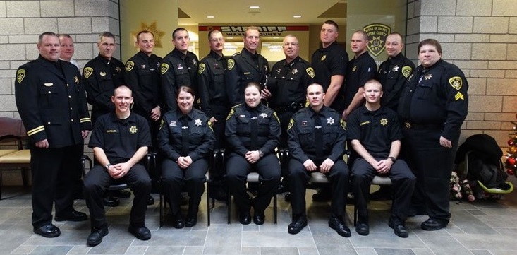 Sheriff Dougherty Tips Cap to Peace Officer Grads