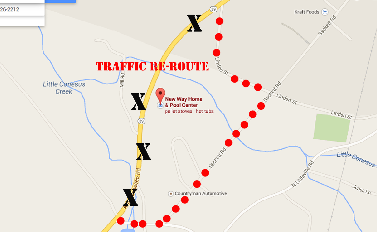 Traffic to be Detoured off of Rte 39 for 2 Months