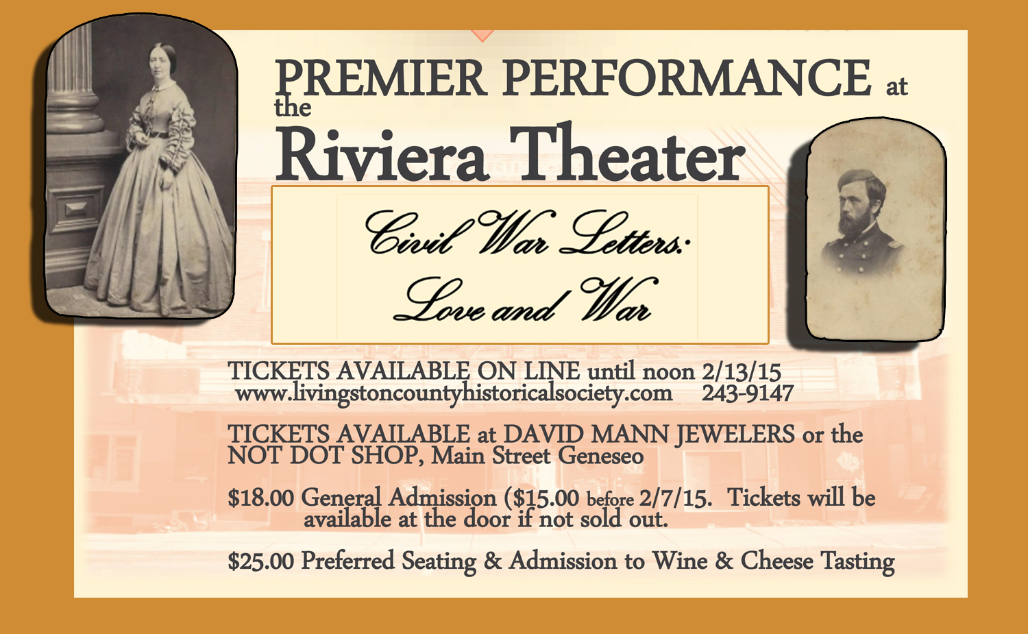 Showtime Nears the Riviera with Civil War Love Letters Performance