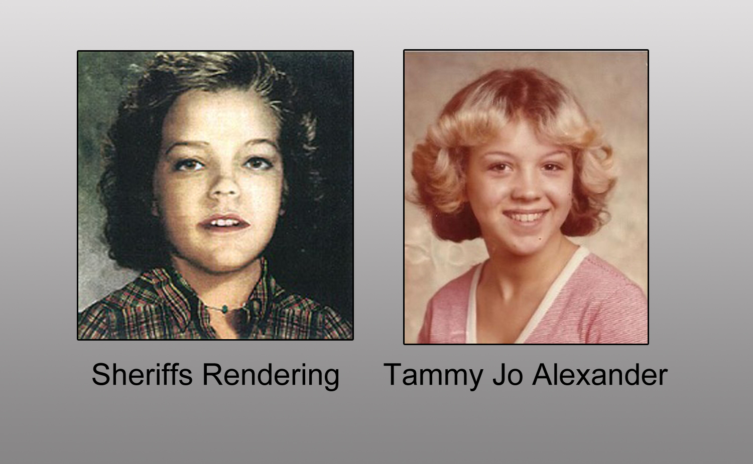 Digital Renderings of Jane Doe Eerily Accurate of Tammy Jo Alexander