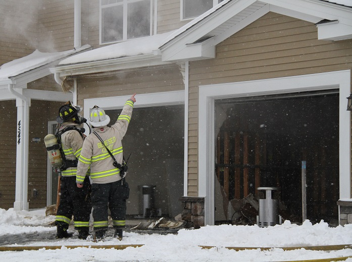 Apartment Garage Fire Supressed by 3 Fire Departments