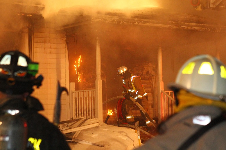 Fire Destroys Home in Frigid Cold