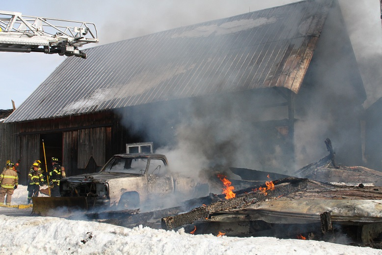 Afternoon Blaze Destroys Barn and Storage