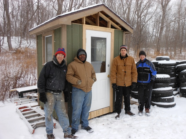 Carpentry Students Recycle Lumber to Warm CLEAN Center Volunteers