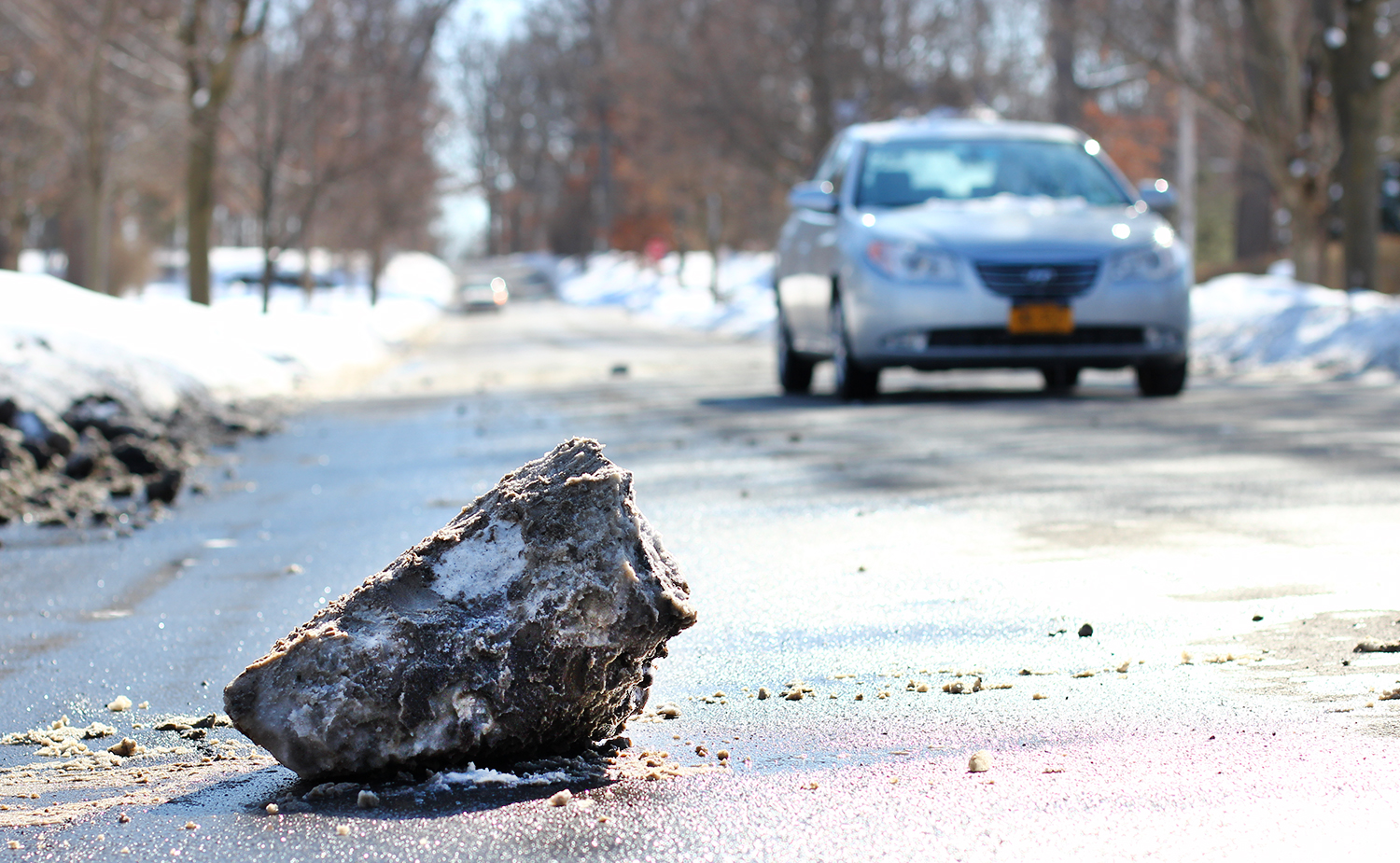 Salt Brine Debris Can Be a Danger for Drivers