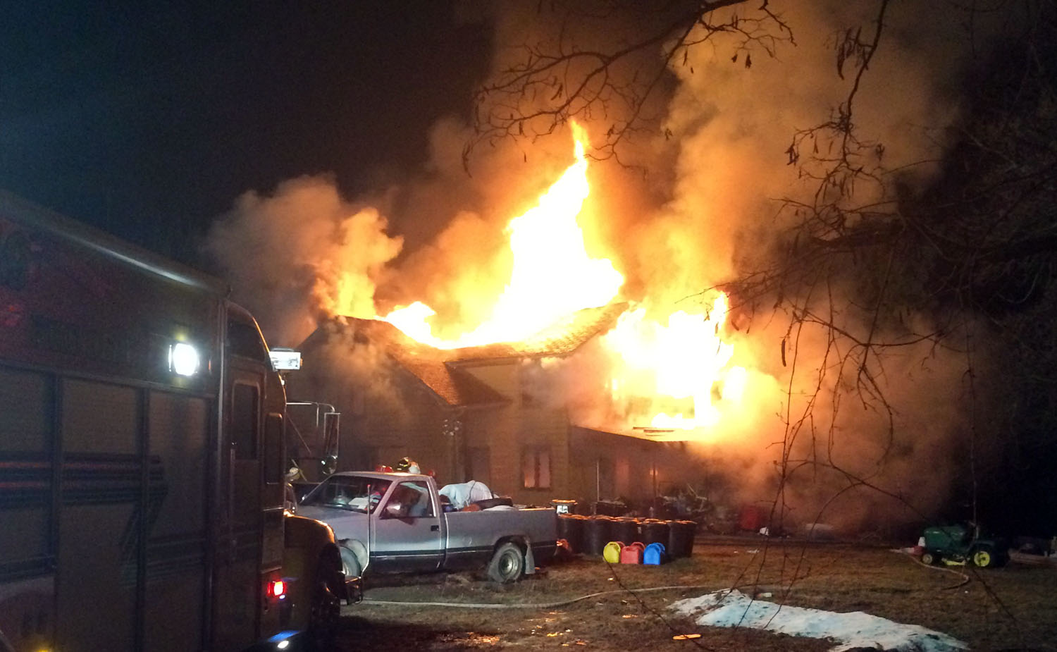 Nunda Firefighters Make Dramatic Roof Rescue in Portage House Fire
